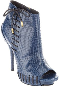 VERSACE Python Ankle Boot - Lyst