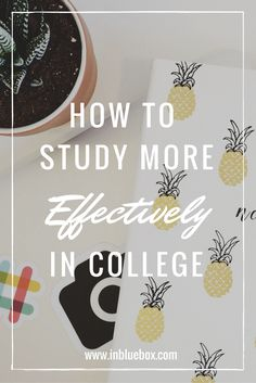 How To Study More Effectively In College