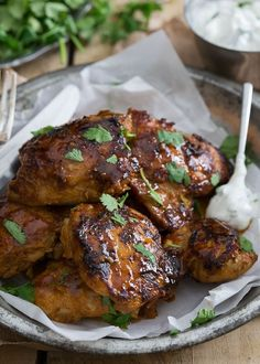 Sweet & Spicy Indian Chicken. Finger licking good chicken that will be your new go-to dinner once you try it out. Sweet, sticky, spicy perfection!