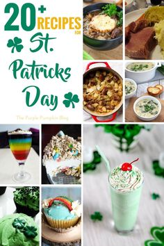 If you are looking for Recipes for St. Patrick's Day, here are 20+ delicious and fun St. Patrick's Day recipes for you to try out! They include savoury dishes, and sweet treats, cupcakes, and drinks! Celebrate the luck of the Irish and cook up some of these tasty recipes! Recipe For 8, Recipe Using, Recipes Using Cream Cheese, Yummy Treats, Yummy Food, Sweet Treats, St Patricks Day Food, Low Carb Recipes, Mince Recipes