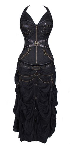 100% Poly Brocade Gothic Overbust Corset Dress by VionaBurlesque on Etsy https://www.etsy.com/listing/205395045/100-poly-brocade-gothic-overbust-corset https://www.steampunkartifacts.com