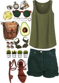 """""""green tea"""" by oppilifera ❤ liked on Polyvore"""