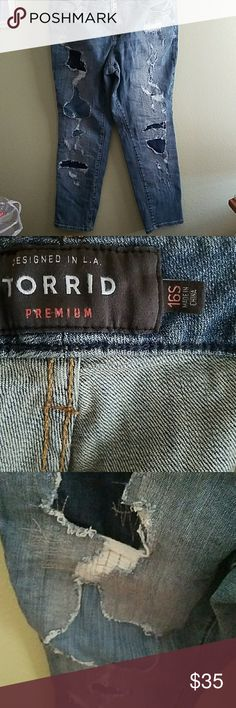 Distressed boyfriend jeans Torrid distressed boyfriend jeans torrid Jeans Boyfriend