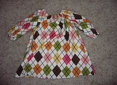 Long sleeve peasant dress - great pattern - these are always cute with leggings
