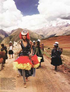 Peru, Fashion And A Llama...  from NIBS  http://nibsblog.wordpress.com/2008/05/22/peru-fashion-and-a-llama/