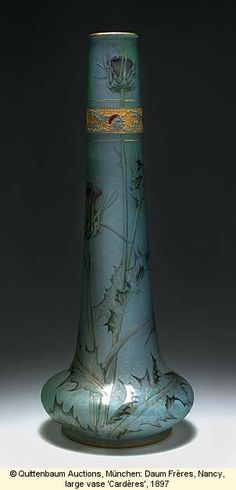 "Quittenbaum Auctions, Munich, Daum Freres, Nancy, Large Vase ""Carderes"", 1897"