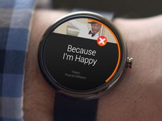 Google's Android Wear + Musixmatch.