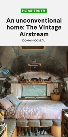 Small House Living, Van Living, Vintage Airstream, Vintage Caravans, Hippie Bedroom Decor, Van Home, Diy Bed Frame, Tiny House Cabin, Farmhouse Christmas Decor