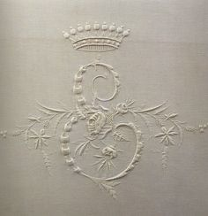 The exquisite art of monogram embroidery on linens