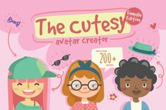Cutesy Avatar Creator By TWB Supply co.. Use this Cutesy Avatar Creator to help you create fun characters in seconds! Download this pack today to create your own cute character and unleash your creativity! **Affiliate Link**