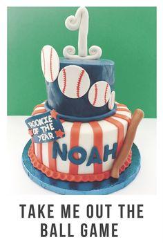 Baseball Themed Cake 1st Birthday Fondant