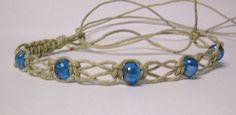 Design Inspiration- Hemp and Bead Bracelet. Should be fairly easy to duplicate. Hemp Necklace, Hemp Jewelry, Jewelry Knots, Beaded Jewelry, Jewlery, Hemp Bracelet Tutorial, Macrame Bracelet Patterns, Macrame Bracelets, Diy Hemp Bracelets