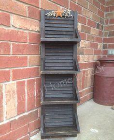 Vintage Shutter Shelf