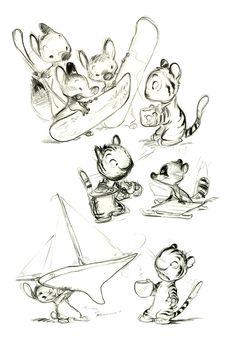 Cartoon Concept Design: Chris Sanders