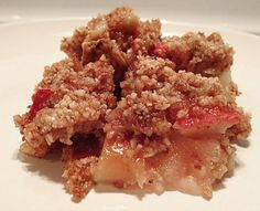 Shame-Free Apple Crisp! Refined sugar and grain free! All the apple and crumble flavor, without the dough. So good in the fall...
