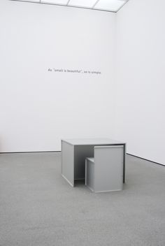 A good chair is a good chair by Donald Judd