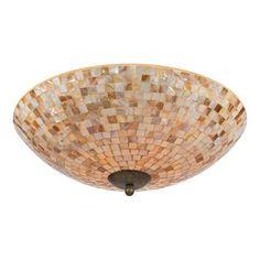Quoizel MY1618ML 4 Light Monterey Mosaic Extra Large Flush Mount Ceiling Light, Malaga  - Lighting Universe