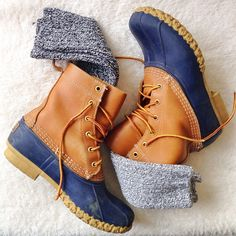 LL Bean Duck Boots. I want these