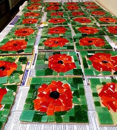 involvement in World War I and post-World War I America. Students will be provided information about the significant of the poppy and they will create a poppy collage and write a journal entry about the poppies. School Displays, Classroom Displays, Art Classroom, Autumn Display Classroom, Remembrance Day Activities, Remembrance Day Poppy, Poppy Craft For Kids, Art For Kids, Crafts For Kids