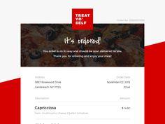 017 - Email Receipt designed by Milan Vučković. Email Template Design, Email Design, Order Confirmation Email, Commercial, Self, Graphic Design, Templates, Stencils, Vorlage