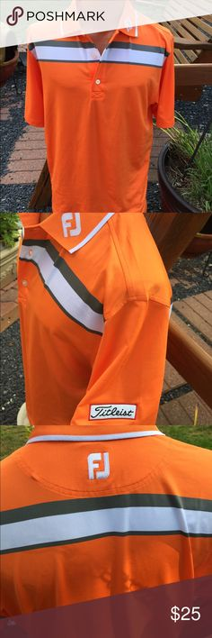 FootJoy Mens Titleist Golf Shirt size Medium Size medium. Mens. 88% polyester, 12% spandex. Worn once. FootJoy Shirts Polos