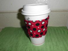 Coffee cozy coffee cup sleeve by sewitsmadebyWendy on Etsy, $5.00