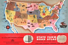 oooooh.... this is what we did before we had iphones // State Farm Road Atlas 1950