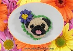 Fawn Pug Hand Sculpted dog Lapel Pin OOAK Clay by sallysbitsofclay, $11.50
