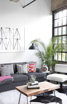 Home Decor:  Black And White Colour Palette To Create A Minimalistic And Chic Living Space. || Home Design || Living Room Interior design ideas || Black and White || Eames Chair