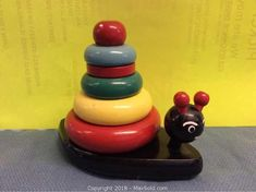 Vintage 1960s Wood BRIO Childs Toy Stacking Toys, Brio, Diy Toys, Wooden Toys, 1960s, Recycling, Children, Vintage, Ideas