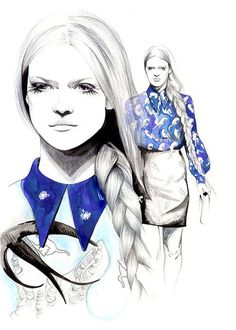 Penciled Fashion Illustrations - Caroline Andrieu Draws Eye-Popping and Detailed Clothing (GALLERY)