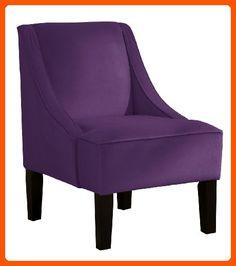 Skyline Furniture Swoop Arm Chair in Velvet Aubergine - Improve your home (*Amazon Partner-Link)
