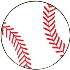 free printable baseball clip art images | Inch Circle Punch or ...