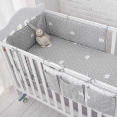 Little Grey Crown Baby Bedding Set