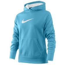 blue nike hoodie.
