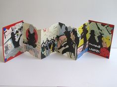 Artist Accordian Books. Fun Design Project.  Could incorporate art history chronology...