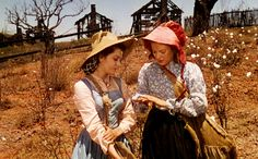 """SUELLEN: """"My back's near broken. Look at my hands. Mother said you could always tell a lady by her hands."""" CARREEN: """"I guess things like hands and ladies don't matter so much anymore... You rest, Sue. You're not well yet, and I can pick cotton for both of us."""""""