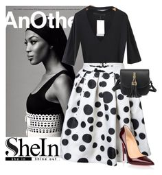 """SheIn"" by elza-345 ❤ liked on Polyvore featuring Naomi Campbell and Christian Louboutin"