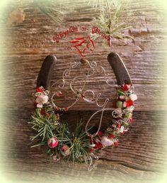 Beaded Horseshoe 'MAKE A JOYFUL NOISE' 2013 NEW!-Christmas horseshoe from Rhythm-n-beads.com