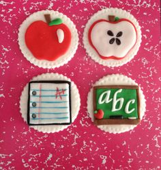 {School cupcake toppers} #cupcakes