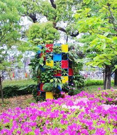 ■Circle tower type vertical garden
