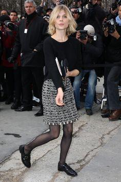 Clemence Poesy - Chanel : Outside Arrivals - Paris Fashion Week Womenswear Fall/Winter 2014-2015