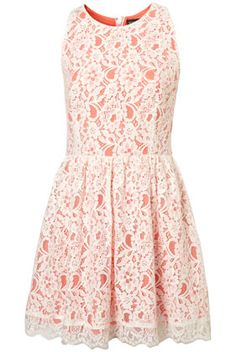 lace skirted dress.