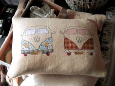 Personalised VW Campervan Just Married Cushion by CRAZYHORSEbazaar, £48.00