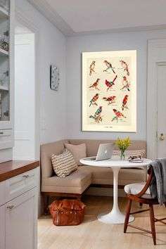 Good use of a small corner (original pin: Song Birds Canvas Print)