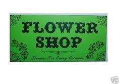 Dollhouse Miniatures Flower Shop Sign