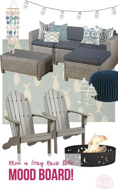 Blue & Gray Back Patio Mood Board! - Happily Ever After, Etc.