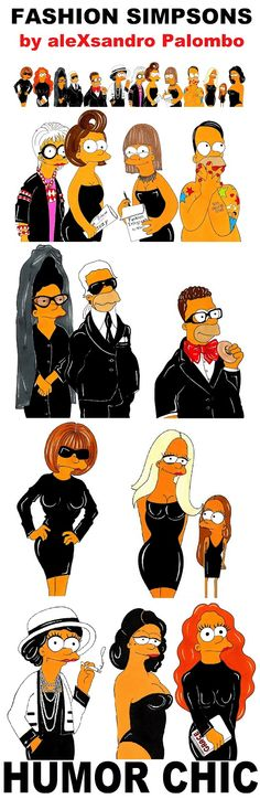 Fashion Simpsons - Humor Chic