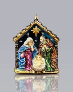 Holy+Family+Christmas+Ornament+by+Jay+Strongwater+at+Neiman+Marcus.
