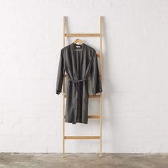 Linen Kimono Bathrobe - Charcoal   Jade and May – Jade and May